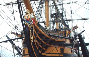 El HMS Victory se conserva actualmente en el puerto de Porsmouth, en Gran Bretaña.