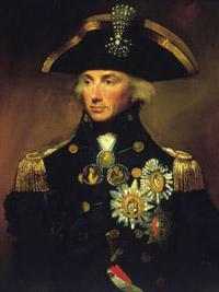 Horatio Nelson, Almirante de la flota británica y fallecido en Trafalgar.