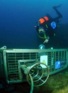 Imagen del laboratorio submarino frente a la costa de Vilanova i la Geltrú (Barcelona)