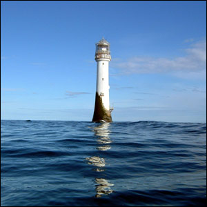 The Bell Rock lighthouse, about 11 miles off Arbroath, taken by Tony Tregor and sent by Andy Lamb, both from Arbroath