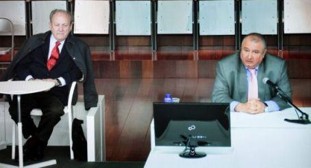 Ángel del Real Abella excapitán del Puerto de A Coruña, durante su declaración como testigo en el juicio / CABALAR (EFE)