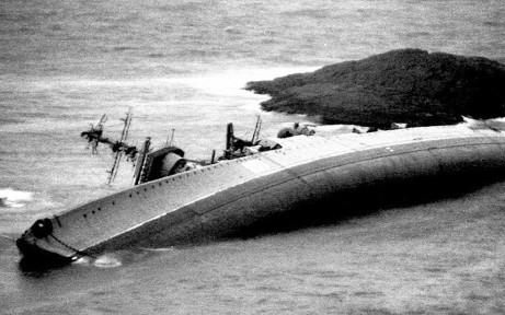 Foto vista en Drugoi. 25 декабря 1994 г. На следующий день после шторма, у берега Соройи