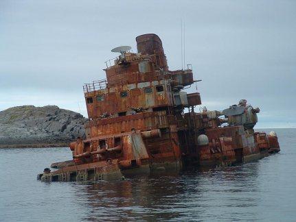 """Foto vista en Drugoi. Нынешнее состояние крейсера """"Мурманск"""""""