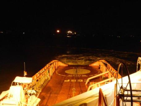 noche desde el remolcador