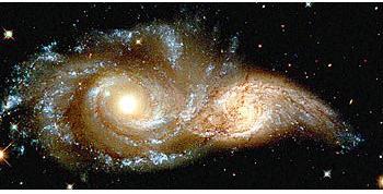 NGC 2207 y la IC 2163