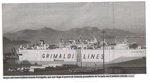 Polizón sirio, buque italiano 2