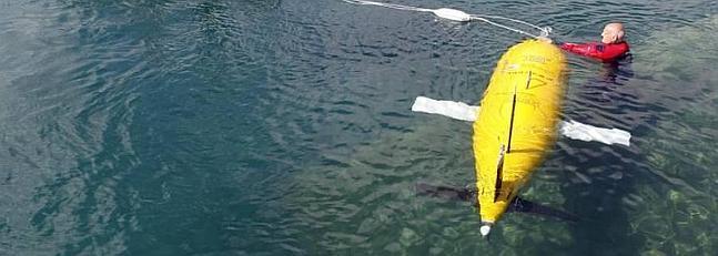 Autosub LR es un submarino no tripulado con una autonomía de 6.000 kilómetros. Elvira Urquijo / EFE