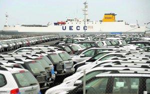 Terminal de Toyota en el Puerto de Sagunto. :: EFE