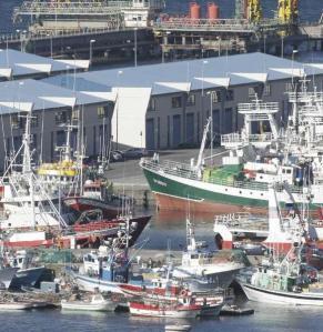 Flota pesquera amarrada en el puerto coruñés de Oza. / eduardo vicente