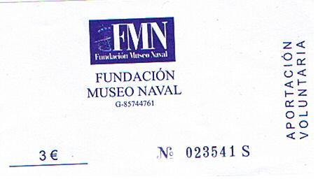 Entrada museo naval Madrid