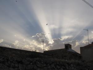Foto tomada por mi ayer al atardecer en Golosalvo.