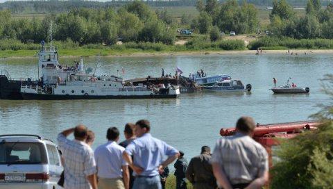 Al menos cuatro muertos por el choque de una motonave con una barcaza en Siberia. © RIA Novosti. Alexei Malgavko.