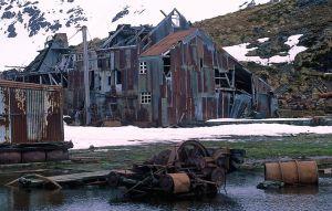 La factoría abandonada de Stromness.