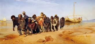 Pintura de Ilya Yefimovich Repin Burlaks en el Volga