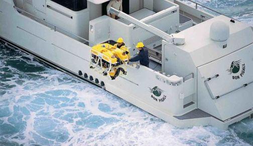 El barco 'Bon Pigall', de la Fundación Argo, que ha sido implicada por expoliar presuntamente barcos hundidos.