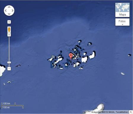 Isla nueva Ártico
