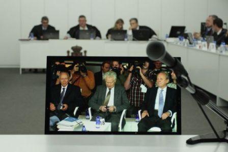Los acusados durante el juicio / GABRIEL TIZÓN