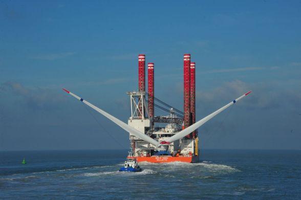 Transporte del aerogenerador marino Haliade 150. / alstom
