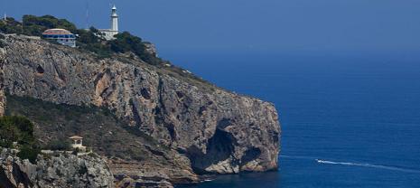 Faro del Cap de la Nao en Xàbia (Alicante).