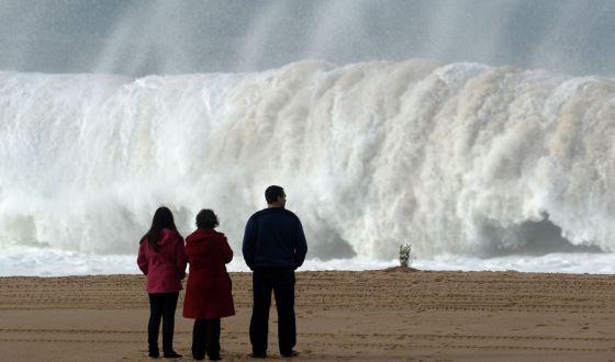 Playa de Meco, cerca de Lisboa, donde murieron los seis jóvenes. / FRANCISCO LEONG (AFP)