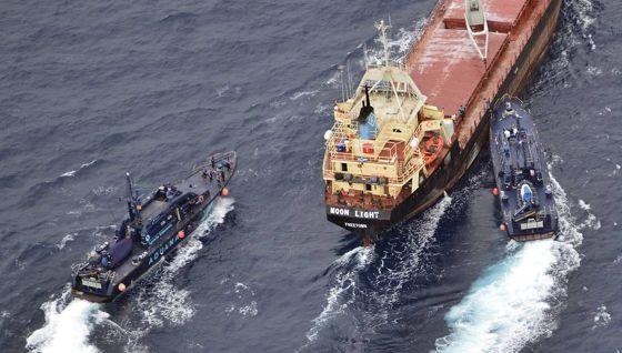 Barco 'Moon Light', apresado por España con 18 toneladas de hachís.