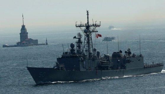 """© Foto: REUTERS/ Murad Sezer La fragata """"USS Taylor"""""""