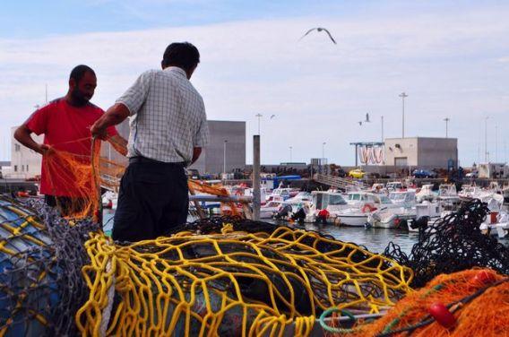 Pescadores en Barbate (Cádiz)