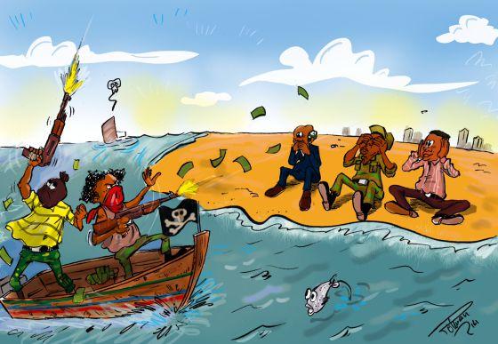 Así ve y ha dibujado la situación para Planeta Futuro el ilustrador y estudiante de periodismo de Costa de Marfil, Roland Polman. Pertenece al colectivo activista Caric-actu.