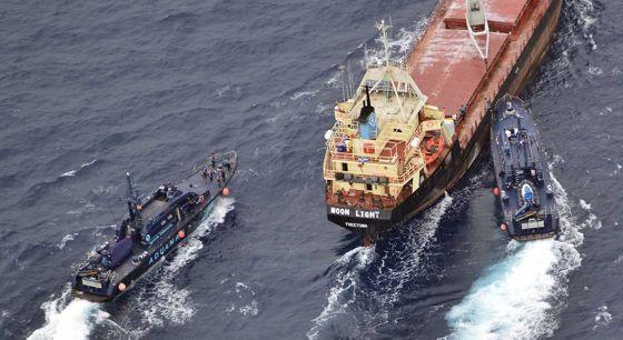 Aduanas interviene el narcobarco 'Moon light', en septiembre de 2013.