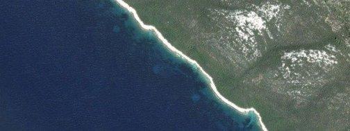 Círculos en el fondo del mar Adriático, en Dugi Otok, Croacia Google Maps