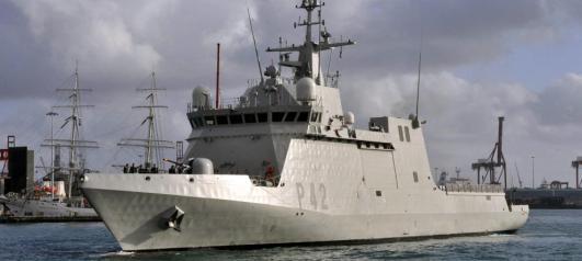El patrullero oceánico 'Rayo', buque de acción marítima (BAM). (EFE)
