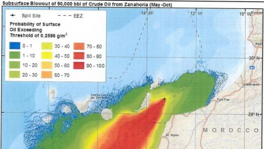 Documento aportado por Repsol al expediente de prospecciones petrolíferas en Canarias.