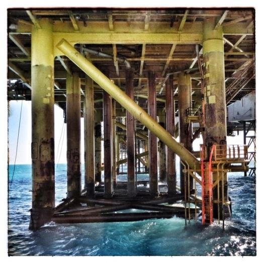 Foto de Yaiza Peraza, plataforma en el Mar del Norte
