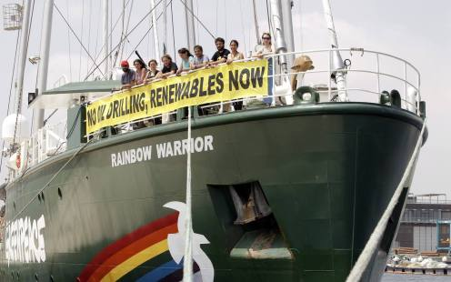 LLEGADA RAINBOW WARRIOR