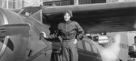 la aviadora norteamericana Amelia Earhart, en 1937. (Corbis)
