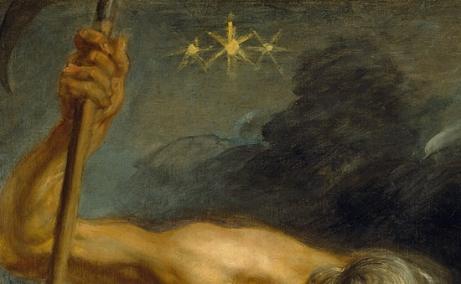 """Detalle del cuadro """"Saturno devorando a sus hijos"""" de Rubens"""