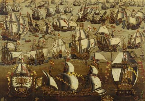 royal museum greenwich Enfrentamiento entre la flota inglesa y la española en 1588