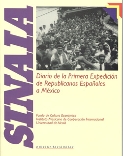 Edición facsimil del periódico editado a bordo del barco Sinaia durante la travesía hasta México.. Fuente: Nodo50.org