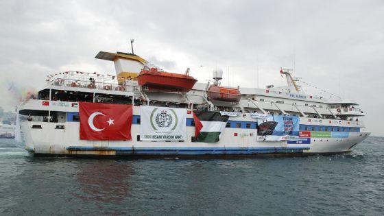 Imagen del buque atacado en 2010, el 'Mavi Marvara'. / AP