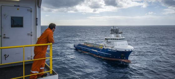 Trabajos de perforación del buque 'Rowan Renaissance'.