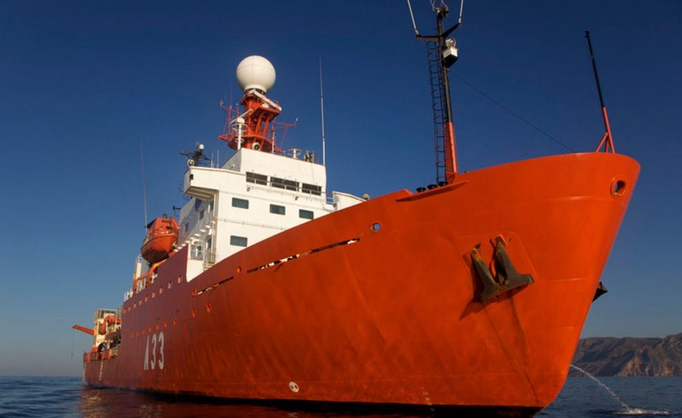 El buque 'Hespérides'