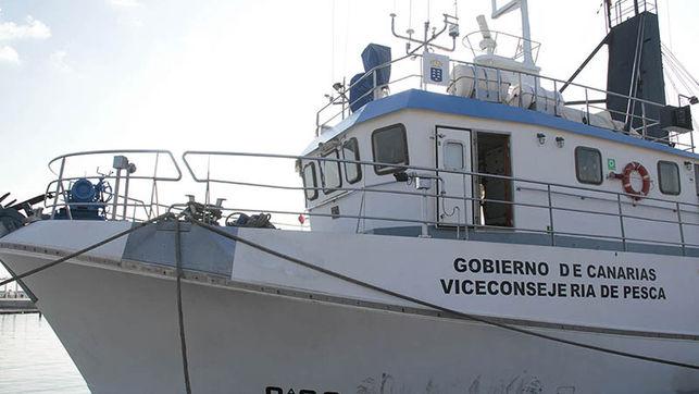 'La Bocaina', buque empleado por los científicos de las universidades canarias. (Felipe de la Cruz/Diario de Lanzarote).