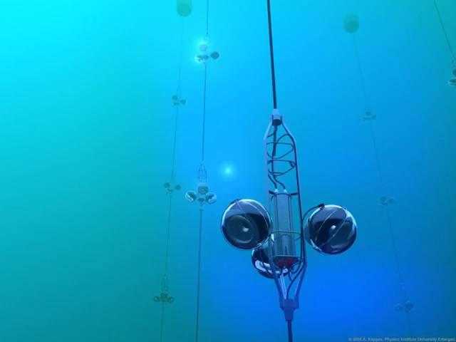 12.000 sensores submarinos barrerán un kilómetro cúbico de mar en busca de neutrinos. / Propriety KM3NeT Collaboration