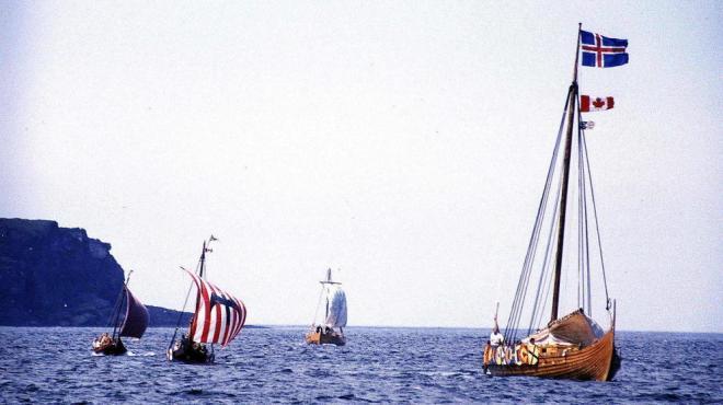 Recreación histórica de las embarcaciones vikingas. (Foto:Joyce Hill)
