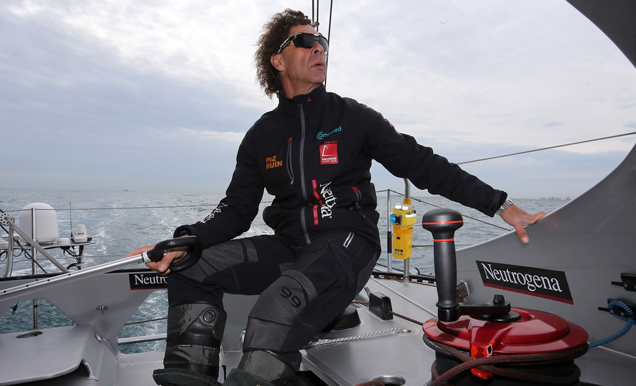Guillermo Altadill, a bordo del Neutrogena. | Jorge Andreu / BWR