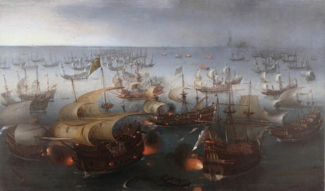 La Invencible, tal y como la vio Hendrick Cornelisz Vroom en 1601 | Tyrolean State Museum - Desde http://www.libertaddigital.com