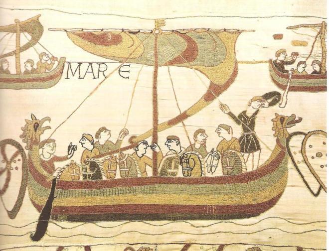 Los vikingos vistos en el tapiz de Bayeux. Leer más:  El día que la ciudad de Sevilla ardió ferozmente a manos de los vikingos. Noticias de Alma, Corazón, Vida  http://bit.ly/1NpyE1A