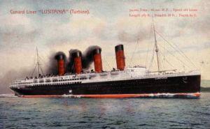 Imagen de laépoca del vapor 'Lusitania'
