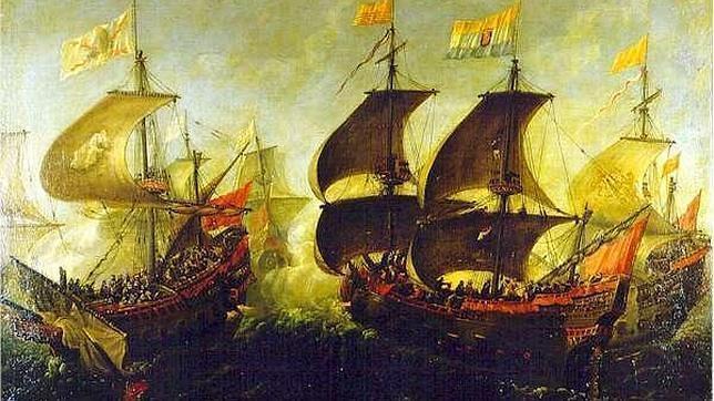 Archivo ABC Combate durante los viajes hacia el Nuevo Mundo entre buques holandeses y españoles