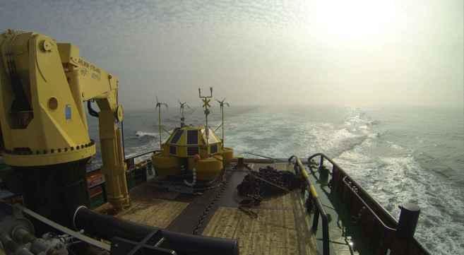 Imagen del despliegue de la unidad Eolos FLS200 unit. EL MUNDO